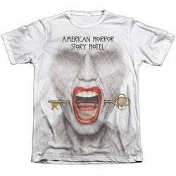 Image of American Horror Story Shirt Fear Face Poly/Cotton Sublimation T-Shirt