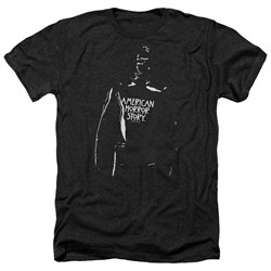 Image of American Horror Story Shirt Rubber Man Heather Black T-Shirt