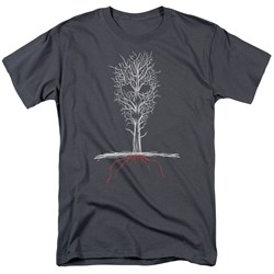 Image of American Horror Story Shirt Scary Tree Charcoal T-Shirt