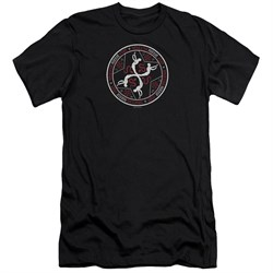 Image of American Horror Story Slim Fit Shirt Coven Serpent Sigil Black T-Shirt