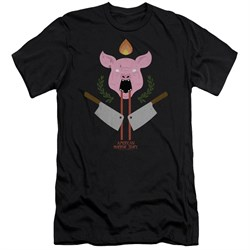Image of American Horror Story Slim Fit Shirt Pig Cleavers Black T-Shirt