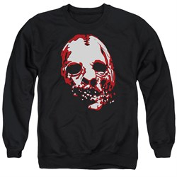Image of American Horror Story Sweatshirt Bloody Face Adult Black Sweat Shirt