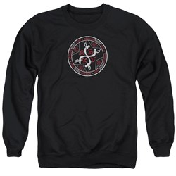 Image of American Horror Story Sweatshirt Coven Serpent Sigil Adult Black Sweat Shirt