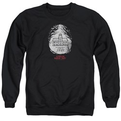 Image of American Horror Story Sweatshirt Its Everywhere Adult Black Sweat Shirt
