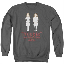 Image of American Horror Story Sweatshirt Murder Adult Charcoal Sweat Shirt