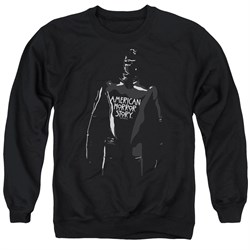 Image of American Horror Story Sweatshirt Rubber Man Adult Black Sweat Shirt