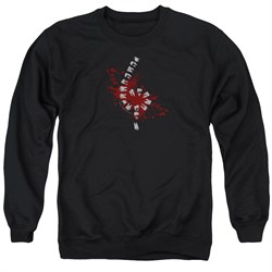 Image of American Horror Story Sweatshirt Teeth Adult Black Sweat Shirt