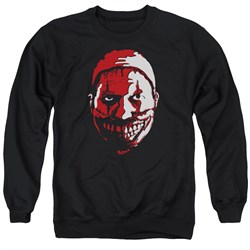 Image of American Horror Story Sweatshirt The Clown Adult Black Sweat Shirt