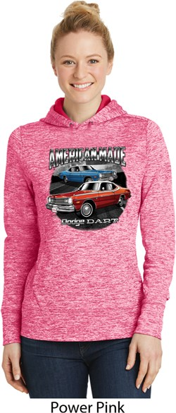 Image of American Made Dodge Dart Ladies Moisture Wicking Hoodie