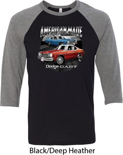 Image of American Made Dodge Dart Mens Raglan Shirt