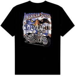 Indian Motorcycle T-shirt - American Steel Adult Biker Tee