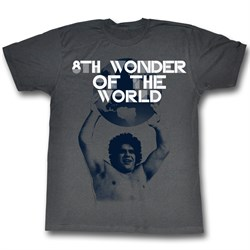 Image of Andre The Giant Shirt 8th Wonder Charcoal T-Shirt