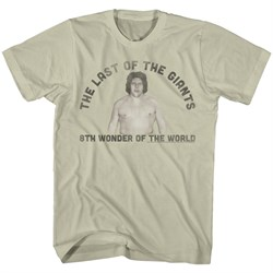 Image of Andre The Giant Shirt Last One Khaki T-Shirt