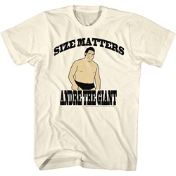 Image of Andre The Giant Shirt Size Matters Natural T-Shirt