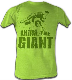 Image of Andre The Giant T-Shirt ? Andre Green Neon Mint Heather Adult Tee