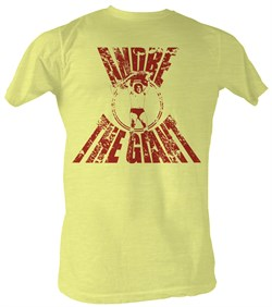 Image of Andre The Giant T-Shirt Real G Wrestling Bright Yellow Heather Tee