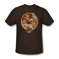 Image of Andy Griffith Show Shirt Boys Club Brown Adult Tee T-Shirt