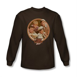 Image of Andy Griffith Show Shirt Boys Club Brown Long Sleeve Tee T-Shirt