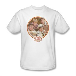 Image of Andy Griffith Show Shirt Boys Club White Adult Tee T-Shirt