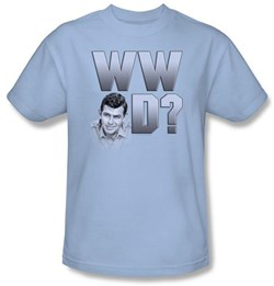 Image of Andy Griffith Show Kids Shirt WWAD Youth Light Blue T-shirt Tee