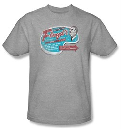 Image of Andy Griffith Show T-shirt - FLOYDS BARBER SHOP Adult Heather Tee