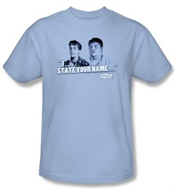 Animal House T-Shirt Movie Pledge Adult Light Blue Tee Shirt