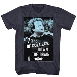 Image of Animal House Shirt Seven Years of College Black Heather T-Shirt