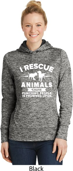 Image of Animal Rescue Ladies Moisture Wicking Hoodie