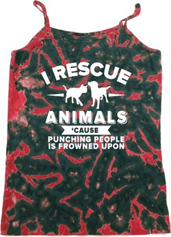 Image of Animal Rescue Ladies Tie Dye Camisole Tank Top