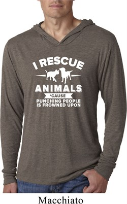 Image of Animal Rescue Lightweight Hoodie Shirt