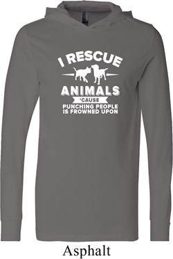 Image of Animal Rescue Lightweight Hoodie Tee