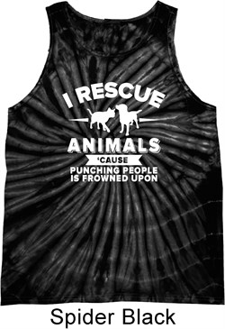 Image of Animal Rescue Tie Dye Tank Top