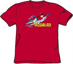Image of Aqualad T-shirt - Aqualad Garth Tempest DC Comics Adult Red Tee