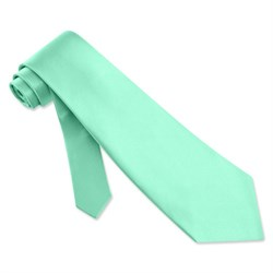 Image of Aqua Blue Silk Extra Long Tie Necktie ? Men?s Holiday Neck Tie