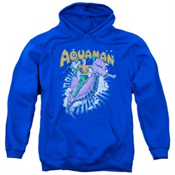 Image of Aquaman Hoodie Ride Free Royal Blue Sweatshirt Hoody
