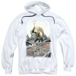 Image of Aquaman Hoodie Swim Reflection White Sweatshirt Hoody