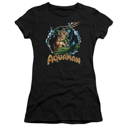 Aquaman Juniors Shirt Ruler Of The Seas Black T-Shirt
