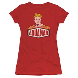 Aquaman Juniors Shirt Sign Red T-Shirt