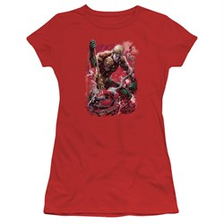 Aquaman Juniors Shirt Stabbed Red T-Shirt