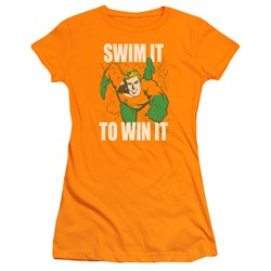 Aquaman Juniors Shirt Swim It Orange T-Shirt