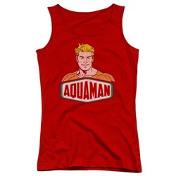 Image of Aquaman Juniors Tank Top Sign Red Tanktop