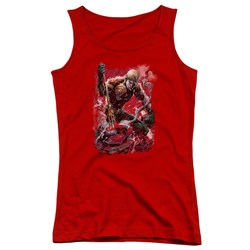 Image of Aquaman Juniors Tank Top Stabbed Red Tanktop