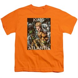 Image of Aquaman Kids Shirt King Of Atlantis Orange T-Shirt