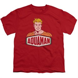 Image of Aquaman Kids Shirt Sign Red T-Shirt