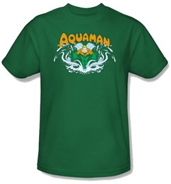 Aquaman Kids T-shirt - Aquaman Splash Kelly Green Youth