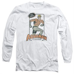 Aquaman Long Sleeve Shirt Action Figure White Tee T-Shirt