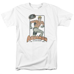Aquaman Shirt Action Figure White T-Shirt