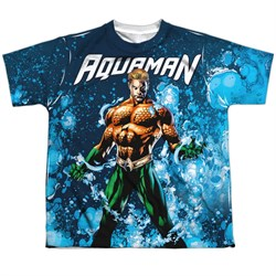 Image of Aquaman Shirt Bubbles Sublimation Youth Shirt