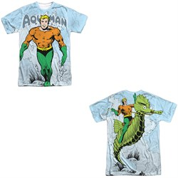 Image of Aquaman Shirt Classic Look Sublimation Shirt Front/Back Print