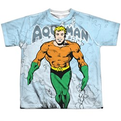 Image of Aquaman Shirt Classic Look Sublimation Youth Shirt